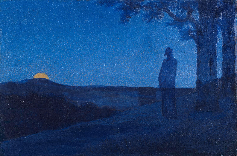 Jesus prays alone