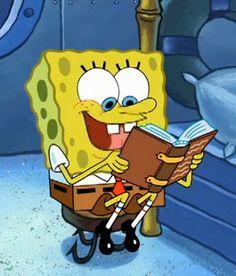 spongebob reading