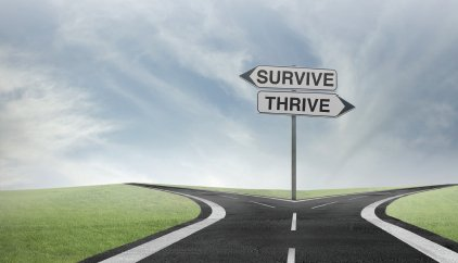 survive or thrive sign