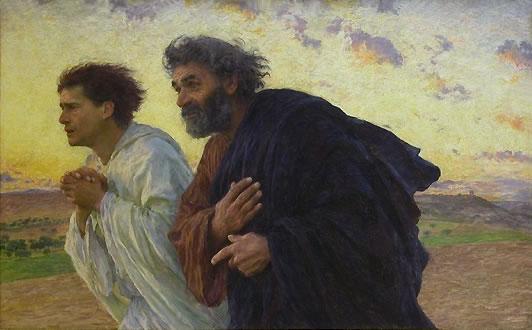 Peter & Jon run to tomb