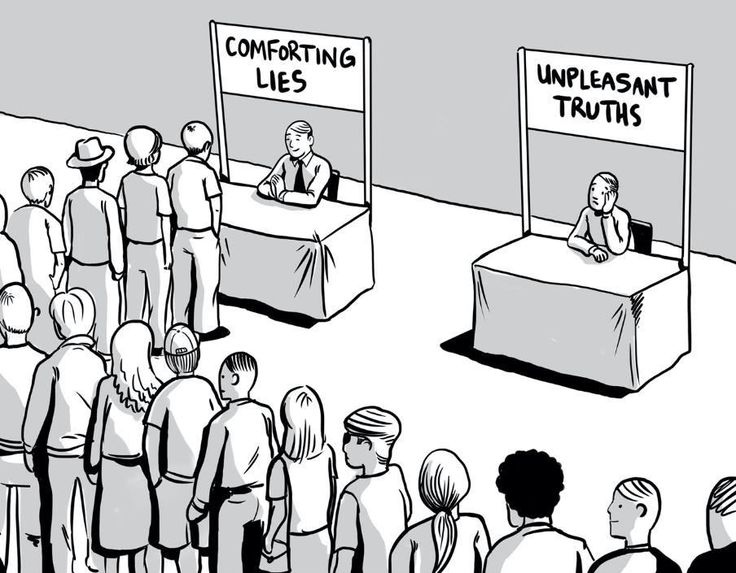 comforting lies line