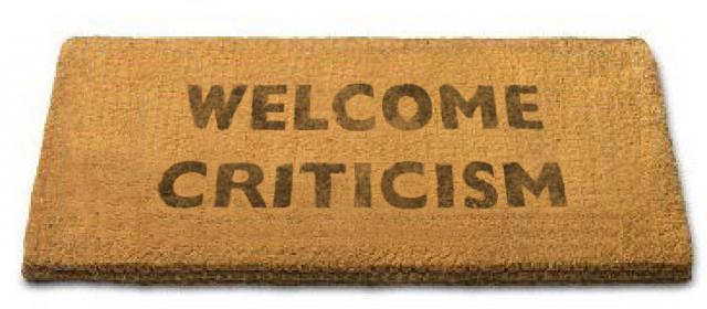 welcome-criticism mat