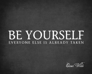 Be Yourself-Wilde