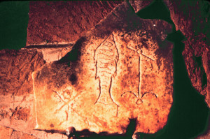 early Christian symbol carvings